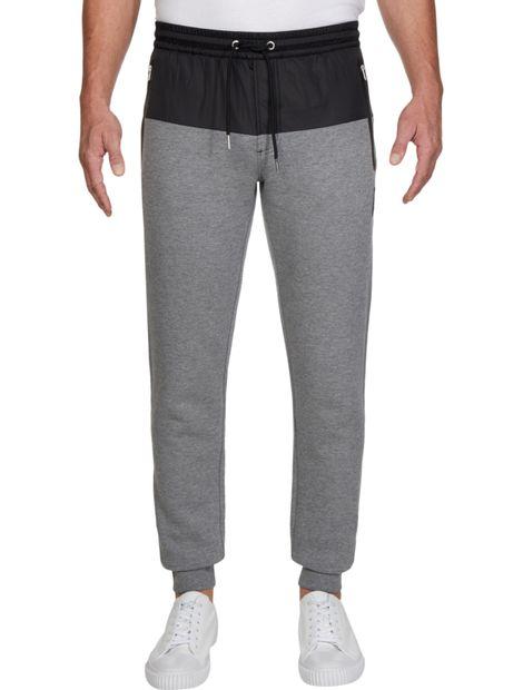 Pantalon-de-chandal-slim-de-mezcla-de-tejidos